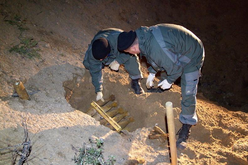 На дороге под Смоленском обнаружен заминированный участок дороги